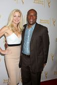 LOS ANGELES - JUN 19:  Jennifer Lucas, Byron Allen at the ATAS Daytime Emmy Nominees Reception at th