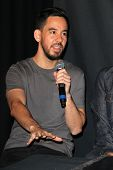 LOS ANGELES - JUN 18:  Mike Shinoda at the Linkin Park Rockwalk Inducting Ceremony at the Guitar Cen