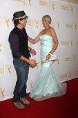 LOS ANGELES - JUN 19:  Shawn Christian, Arianne Zucker at the ATAS Daytime Emmy Nominees Reception a