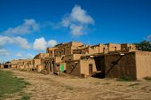 picture of pueblo  - Detail from Taos Pueblo in New Mexico USA - JPG