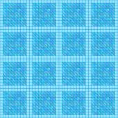 Seamless Aqua Blue Geometric Texture