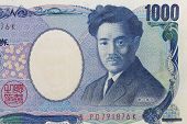Close - up Bank note of Japanese 1000 yen