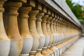 image of balustrade  - An old stone balustrade into the distance - JPG