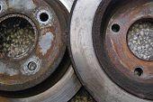 Old car brake discs