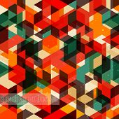 Retro abstract pattern. Seamless vector background.
