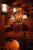 stock photo of sail ship  - Interior of a part of old ship made of wood - JPG