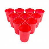Empty Plastic Red Cups