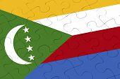 Comoros Flag Jigsaw Puzzle