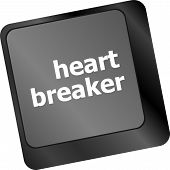 Heart Breaker Word On Keyboard Key, Love Concept
