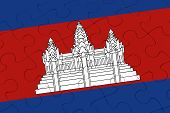 Cambodia Nation Flag Jigsaw Puzzle