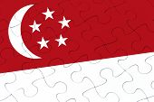 Singapore Flag Jigsaw Puzzle