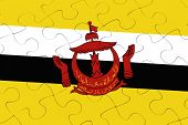 Brunei Nation Flag Jigsaw Puzzle