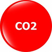 Carbon Dioxide Web App Icon, Web Button