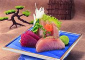 Raw Fish With Salad