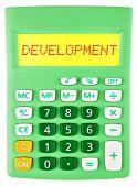 Calculator With Development On Display