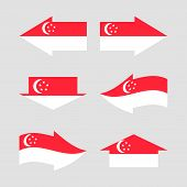 Flag of the country in form arrows