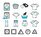 pic of dirty-laundry  - Laundry icons set - JPG