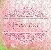Card For The Invitation And Congratulations On A Pink Background