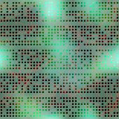 Abstract computer dots on blur background