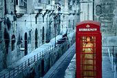 Alone in the phone box