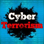 stock photo of terrorism  - Cyber Terrorism concept image with text over binary background - JPG