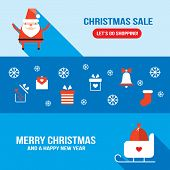 foto of christmas bells  - Christmas and New Year banner template with icons and symbols - JPG