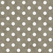 Brown And White Large Polka Dots Pattern Repeat Background