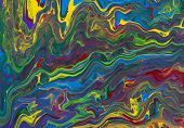 abstract background color paint mixed flows