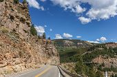 Road Trough The Rocky Mountains In Colorado