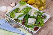 White fish / toothfish with salad