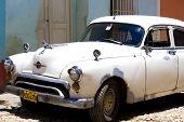 Old Vintage white Car