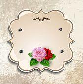 Vintage frame with roses