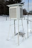 Box for the meteorological equipment on snow.