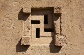 picture of swastika  - Window of the rock - JPG