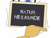 Illustration: Doctor Shows Information: Naturopathy In German