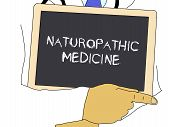 Illustration: Doctor Shows Information: Naturopathic Medicine