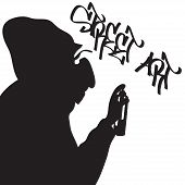 Street artist silhouette.eps