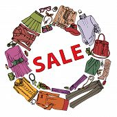 Fashion Sale.Womans clothing and accessories set