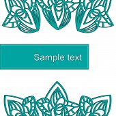 Abstract blue pattern form with place for text.