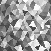 Monochrome Background Of Triangles Of Different Shapes And Sizes.