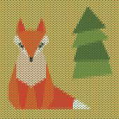 Knitted Cartoon Ginger Fox Cover