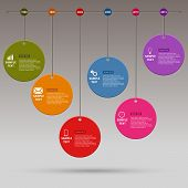 Time Line Info Graphic Colored Round Design Template