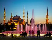 Sultan Ahmet Camii (Blue Mosque). Istanbul, Turkey