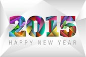 Happy New Year 2015 colorful triangles