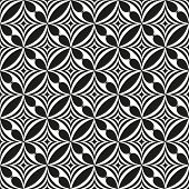 Black and white abstract seamless pattern. Vector illustration