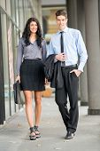 Youngand Handsome Business Couple