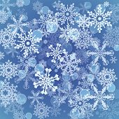 Snowflakes Icon Set Collection. Vector Shapes.