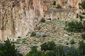 pic of ancient civilization  - ancient ruins in Bandelier National Monument New Mexico remnants of an old civilization - JPG