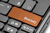 Directory. Orange Hot Key On Computer Keyboard