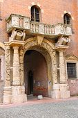 Arch In The Courtyard Of The Palazzo Del Capitano, Piazza Dante, Verona, Italy